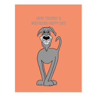 Wolfhound irlandesa Smile Cartão Postal