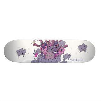 """Wonkoodles """"nas nuvens"""" patina o conselho shape de skate 18,1cm"""