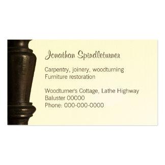 Woodturner, cartão de visita do restorer da mobíli