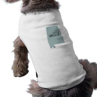 Woof de Alabama! Camisa Sem Mangas Para Cachorro