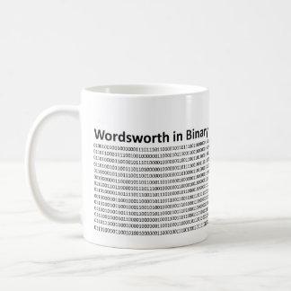 Wordsworth no binário caneca