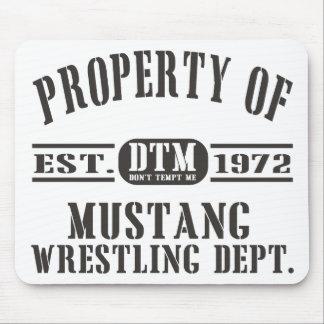 Wresting do mustang! mousepad