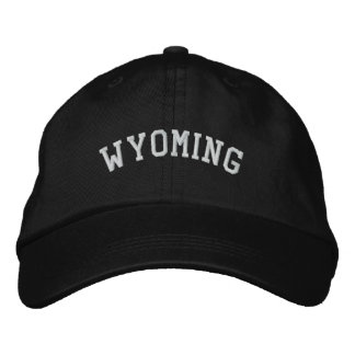 Wyoming EUA bordou o preto ajustável do boné