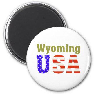 Wyoming EUA! Ímã Redondo 5.08cm