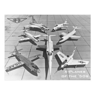 X-Planos de NACA dos cartão dos anos 50
