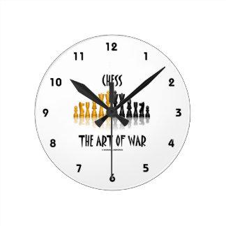 Xadrez a estratégia militar (pia batismal de relógios para paredes