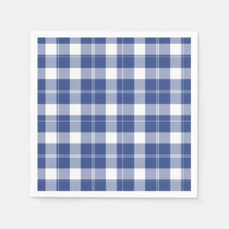Xadrez azul para os guardanapo de papel do feriado