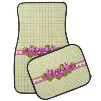 Xadrez cor-de-rosa do amarelo da flor
