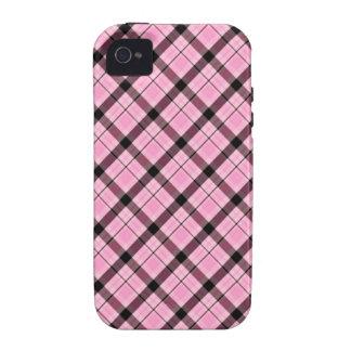 Xadrez cor-de-rosa feminino capinhas iPhone 4/4S