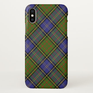 Xadrez de Tartan escocesa da caça de MacMillan do Capa Para iPhone X