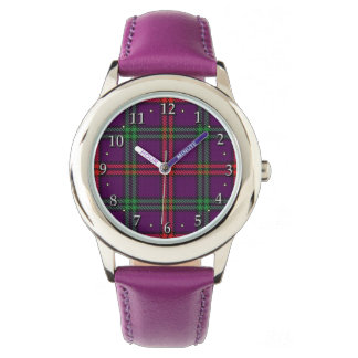Xadrez de Tartan escocesa da família de Montgomery Relógio