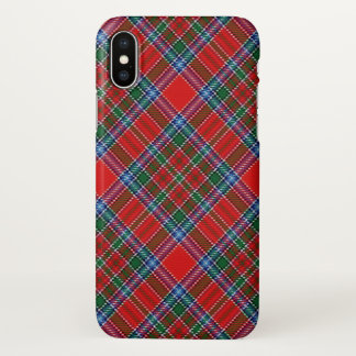 Xadrez de Tartan escocesa de MacBean do clã Capa Para iPhone X