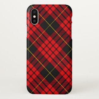 Xadrez de Tartan escocesa de MacQueen do clã Capa Para iPhone X