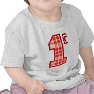 XADREZ do menino do primeiro aniversario um nome f Tshirts