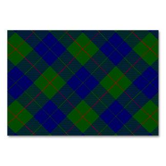 Xadrez do verde azul do tartan do clã de Barclay Cartão