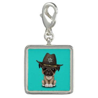 Xerife bonito do cão de filhote de cachorro do Pug Pingente