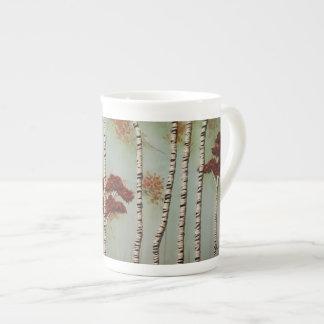 Xícara De Chá Árvores de vidoeiro na queda