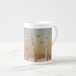 Xícara De Chá Árvores de vidoeiro no inverno
