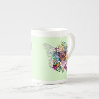 Xícara De Chá Butterlies & flores