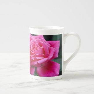 Xícara De Chá Impressão floral de dois rosas cor-de-rosa