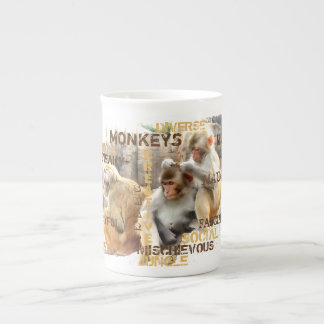 Xícara De Chá Macacos