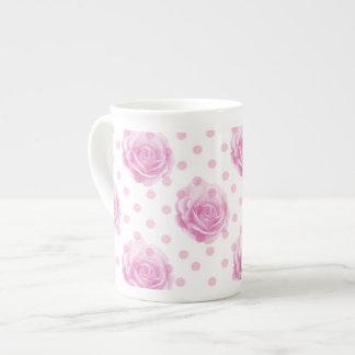 Xícara De Chá Rosas cor-de-rosa bonito