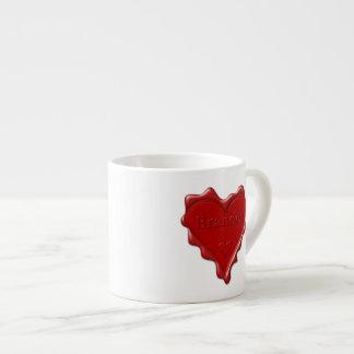 Xícara De Espresso Brandon. Selo vermelho da cera do coração com