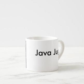 Xícara De Espresso Jarro de Java preto e branco