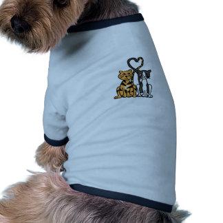 XX- amor impressionante do gato do gatinho Camiseta Para Caes