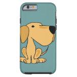 XX- arte amarela engraçada do cão de Labrador Capa Para iPhone 6 Tough