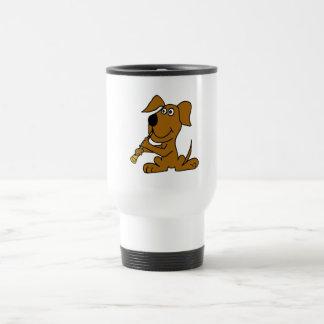 XX- cão engraçado de Brown que joga o clarinete