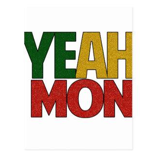 Yeah férias jamaicanas de segunda-feira cartão postal