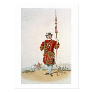 Yeoman de Guarda do rei, 'do traje do excelente Cartão Postal