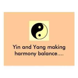 Yin e Yang que fazem a harmonia equilibram… Cartão Postal