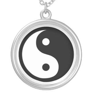 Yin Yang Colar Com Pendente Redondo