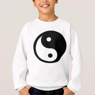 Ying Yang cortou o t-shirt