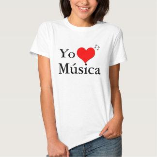 Yo Amo Musica Camiseta