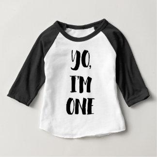 Yo, eu sou um camiseta para bebê