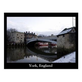 York, Inglaterra Cartão Postal