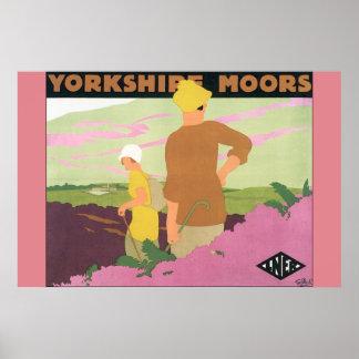 Yorkshire amarra o poster das viagens vintage pôster