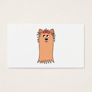 Yorkshire terrier bonito, cão cartão de visitas