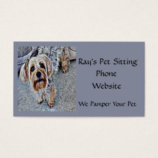 Yorkshire terrier de Yorkie colorido Cartão De Visitas