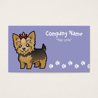 Yorkshire terrier dos desenhos animados (cabelo cartão de visitas