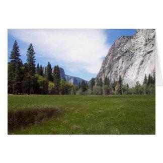 Yosemite na primavera:  Opinião do prado Cartão De Nota