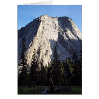 Yosemite no primavera:  Majestade do granito Cartão De Nota