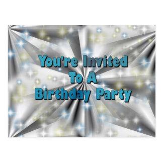 You' re convidado a uma festa de aniversário cartoes postais