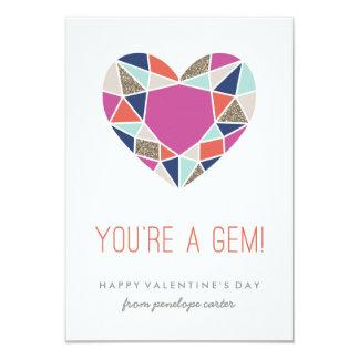 You're a Gem Classroom Valentine - Cobalt Convite 8.89 X 12.7cm