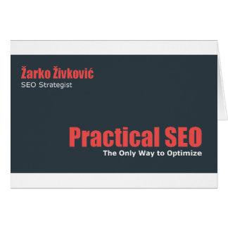 Zarko Zivkovic - SEO prático Cartão De Nota