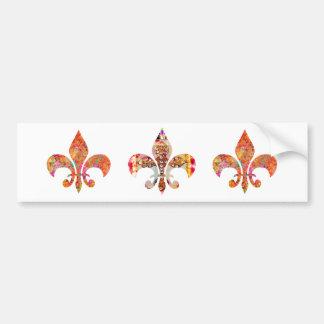 ZazzleRocks: Série da flor de lis Adesivo Para Carro