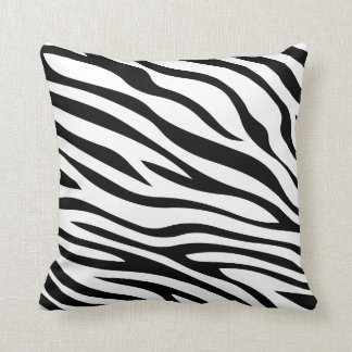 Zebbra listra preto e branco travesseiros